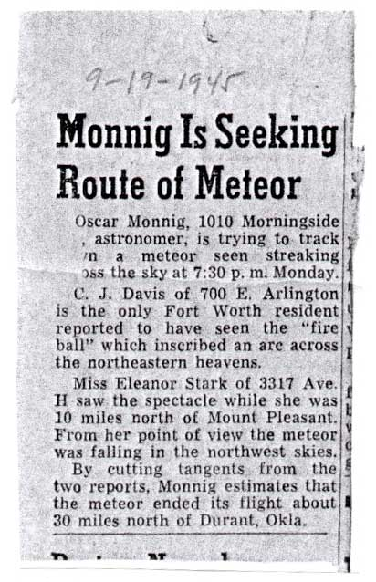 The Atoka Meteorite