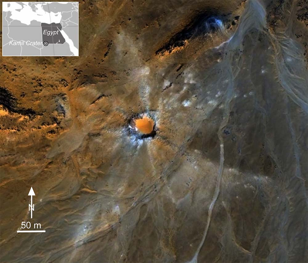 Kamil Crater (Egypt) a natural laboratory to study shock metamorphism and impact melting
