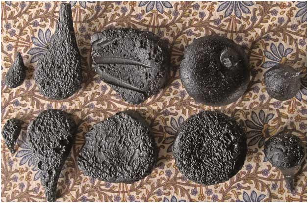 Splatform Tektite Basal surface textures